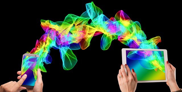 colourful graphic of iPhone and iPad