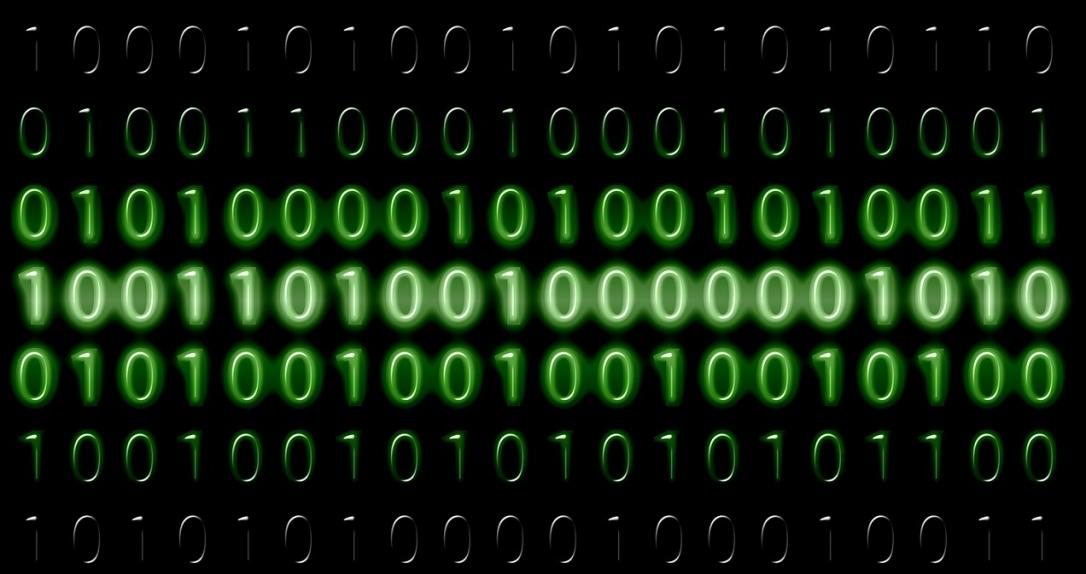 Photo of data as computer binary code