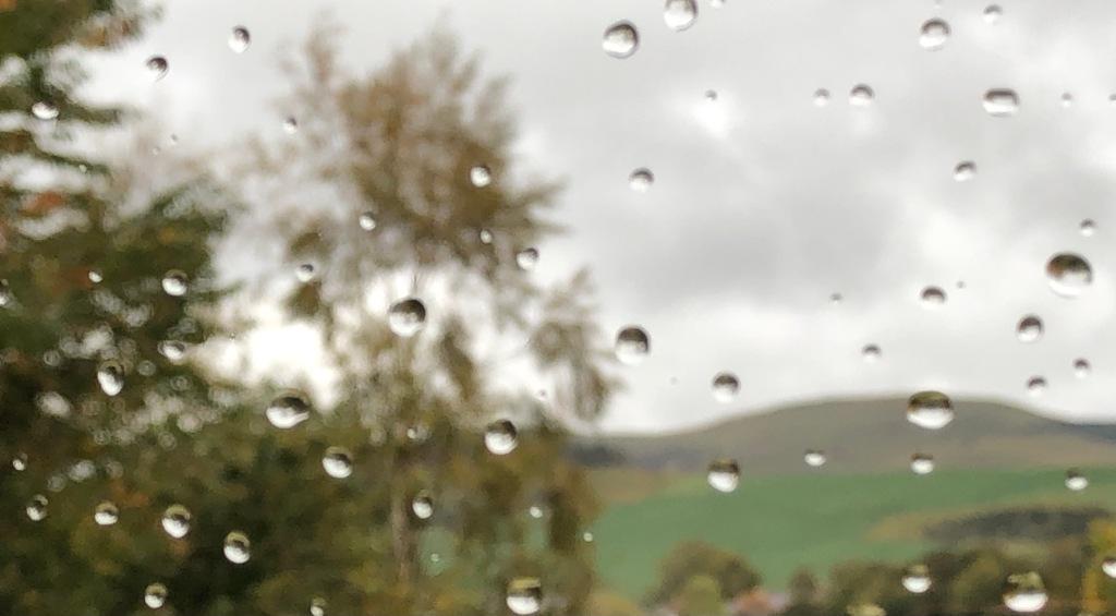 picture of rain on window